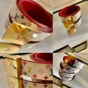 💫💫💫🔥🔥🛍🛍✅✅💯 Louis Vuitton Multicolor Belt.